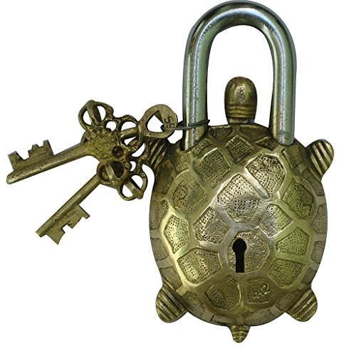 Pad Lock of Tortoise Figure for Door Safety by Aakrati