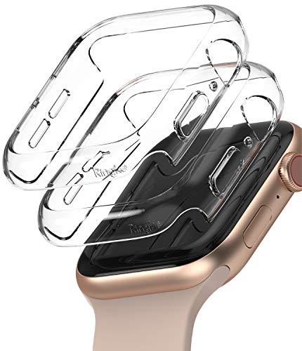 Ringke Slim Compatible con Funda Apple Watch Series 6/5/4/SE 44mm, Delgada Ligera Fina Carcasa [2 Unidades] - Clear/Clear