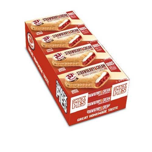 JJs Bakery Duos Strawberry and Cream Pie -- 48 per case.