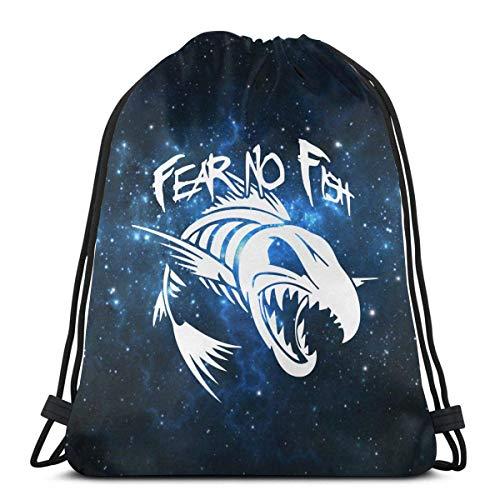 Fear No Fish Kordelzug Rucksack für Damen Kordelzug Taschen Sporttasche Sack Sackpack