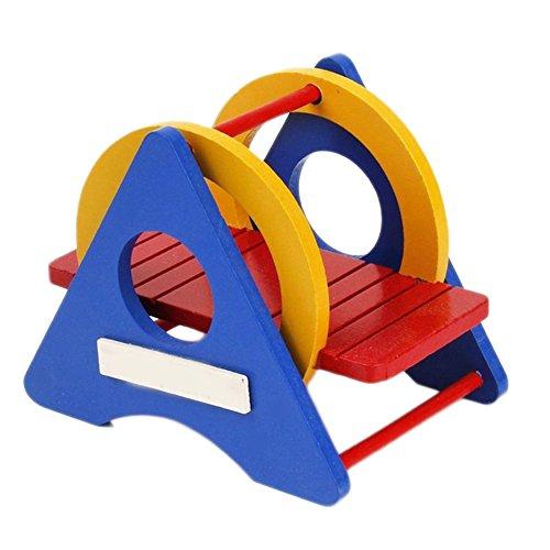 Demarkt Columpio de madera para hámsters, mascotas, juguete y accesorios, rata, ratón, juguete para niños pequeños, parque de juegos, deportes, juguete columpio