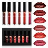 Lipgloss Set, Luckyfine 6 Farben Lipgloss Matte...