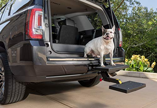 PetSafe Solvit PupSTEP HitchStep Pet Stairs, Steps for Truck and SUV Hitches, Great for Medium to...