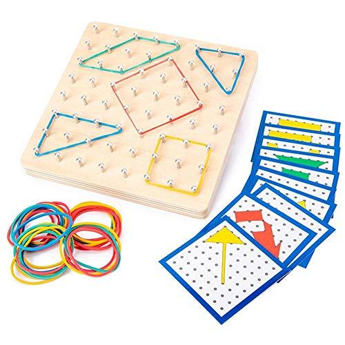 MySixKeen Tablero de Bloque de Matriz manipuladora matemática de Madera de Juguete Educativo para niños Adultos