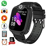 Kinder Smartwatch 7 Spiele - Kids Smartwatch MP3 Musik - Touch Screen Smart Phone Watch mit Kamera Wecker Recorder Rechner, Scherzt Intelligente Uhr für Jungen Mädchen Geschenk 3-12 Ys(W/ 1G SD Card)