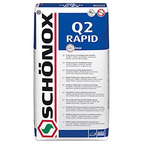 Fliesenkleber Schönox Q2 RAPID - schnellabbindender Flexkleber (25Kg)