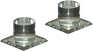 Mirart Pull Handle, Self Stick Round Acrylic Mirror Finger Knob (2 Pack)