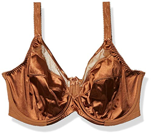 Goddess Women's Plus-Size Keira Underwire Banded Bra Bra, Cinnamon, 46H
