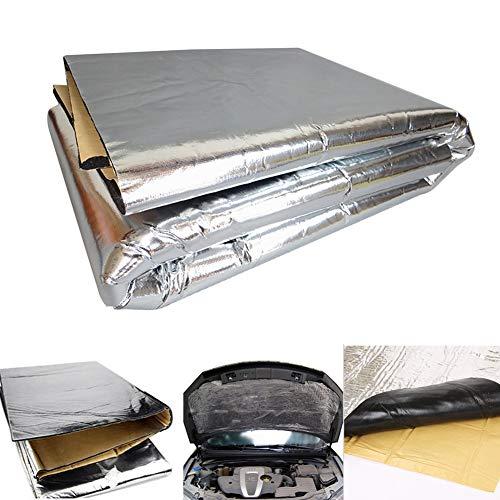Newhashiqi Tappetino termico per cofano auto, in fibra di alluminio, isolamento acustico, cotone