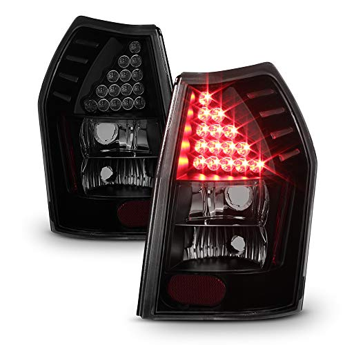 ACANII - For Black Smoked 2005-2008 Dodge Magnum LED Tail Lights Brake Lamps 05-08 Left+Right
