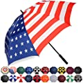 BAGAIL Golf Umbrella 68/62/58 Inch Large Oversize Double Canopy Vented Automatic Open Stick Umbrellas for Men and Women(Flag,68 inch)