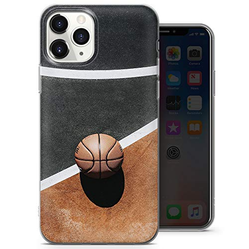 Carcasa para iPhone 6 y iPhone 6s, diseño 5, A26 de silicona TPU suave y delgada, para jugar al baloncesto (naranja y amarillo gris)