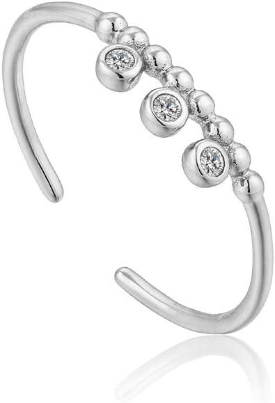 Shimmer Triple Stud Adjustable Ring
