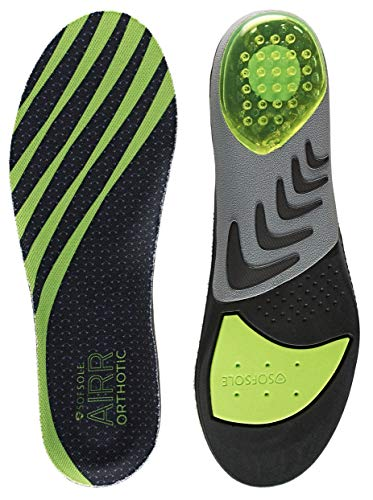 Sof Sole Women's AIRR Orthotic Support Full-Length Insole, Green, Women's 8-11