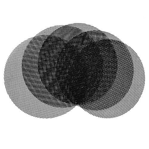 OSVINO 5 Stücke Grillmatte Backmatte BBQ Glasfaser rutschfest mit Gitter hitzbestänidg für Elektrogrill Gasgrill rund Durchmesser 40cm