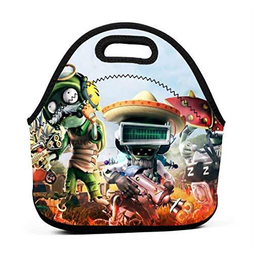 AOOEDM - Bolsas de frutas de neopreno térmico sin BPA para niñas y adolescentes, contenedor de picnic para llevar, PvZ Garden Warfare, 2 cajas de almuerzo de regalo para fanáticos, para la escuela, e