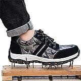 NKJGFV De Acero del Dedo del pie Zapatos de Trabajo Zapatos Transpirables de Seguridad Anti-Sensacional antipinchazo Protectora Zapatos Zapatos de los Hombres de Seguridad Botas 36