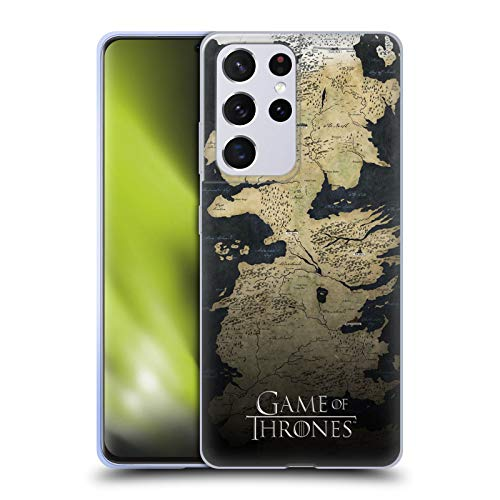 Head Case Designs Officially Licensed HBO Game of Thrones Westeros Map Key Art Soft Gel Case Compatible with Samsung Galaxy S21 Ultra 5G