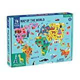 """Product Image of the Mudpuppy Map of The World Puzzle, 78 Pieces, 23""""x16.5"""" – Perfect for Ages..."""