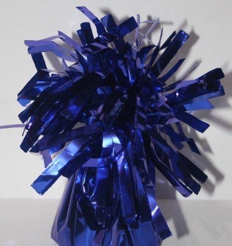 12 X contrapesos para globos de helio AZUL OSCURO cono de papel de aluminio, con borla