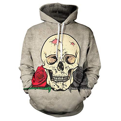 Hoodie Capuchahoodie 3D Print Horror Skull Mens Woman Hoodies Leisure Fashion Sweatshirt Jacket XXL Klt05