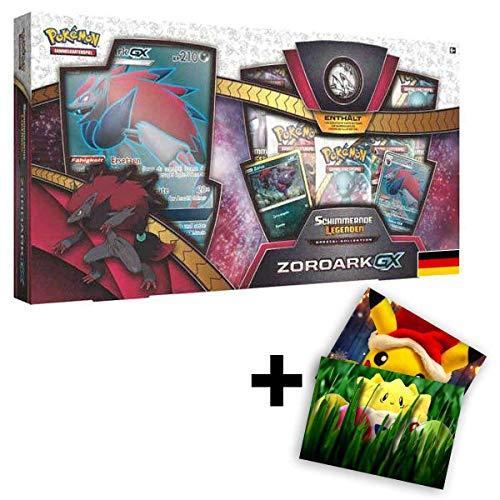 Lively Moments Pokemon Karten Schimmernde Legenden Spezial - Kollektion Zoroark - GX DE Deutsch / Promo Sammelkarten + Exklusive GRATIS Grußkarte
