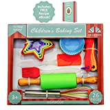Kids Baking Set Cooking Bakeware 26 Piece BPA Free Real Baking and Cooking Utensils Cookie Cupcake for Children with Recipe eBook by Highwood