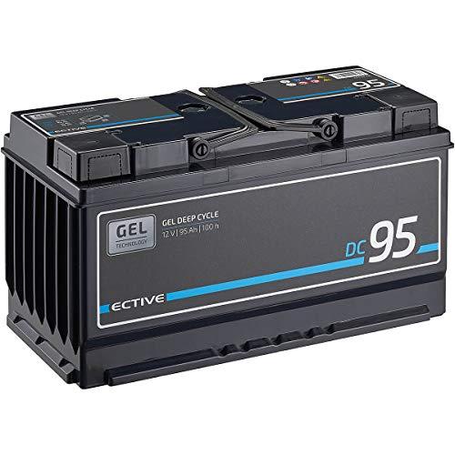 ECTIVE 95Ah 12V Gel Versorgungsbatterie DC 95 Deep Cycle Solar-Batterie VRLA Zyklenfest in 2 Varianten (wartungsfrei)