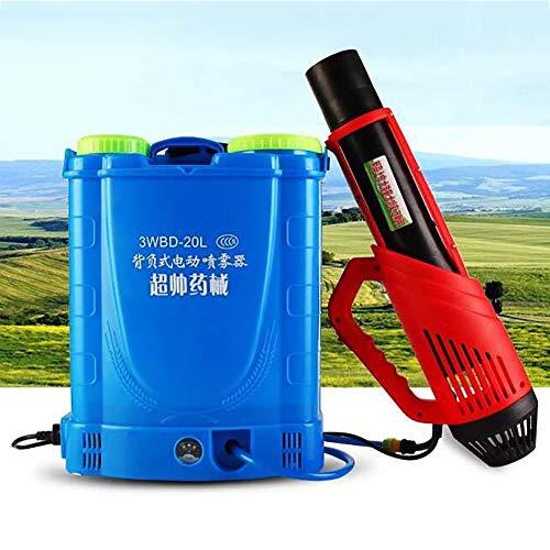 20L rugsproeier met lithiumbatterij, draagbare elektrische rookmachine voor binnen, buiten, openbare plaatsen, desinfectie, tuinmuggenmoordenaar