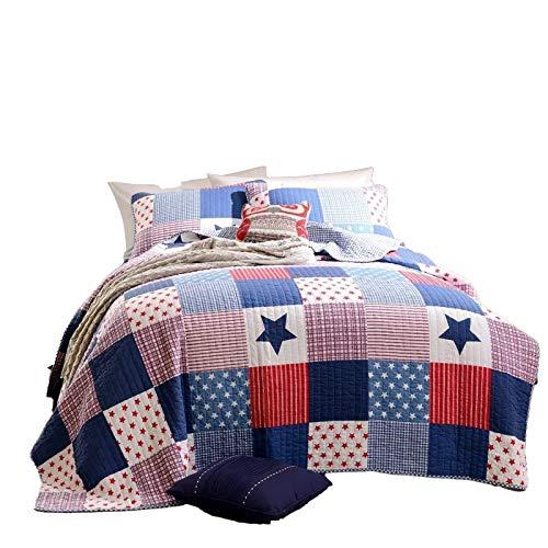GAKIN Colcha de algodón para cama individual, 150 x 200 cm, 1 unidad