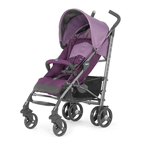 Chicco Lite Way2 - Silla de paseo ligera y compacta, 7,5 kg, color morado