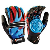Sector 9 BHNC Longboard Skateboard Slide Gloves Acid Blue With Slide Pucks Size S/M by Sector 9