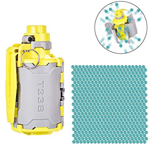 Forweilai Upgrade Granaten Kit für nerf, V2 Grosse Kapazität Granaten Spielzeug mit Zeitverzögerte Funktion + 1 Packung Schwer Wasser-Kugel für Nerf, CS, We Spiel