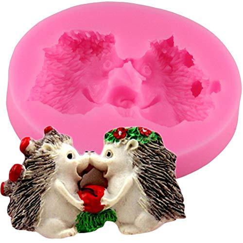 GMTEXTILES Igel Silikonformen Fondant Kuchen Dekorationswerkzeuge Tiere HarzTonform Gumpaste Chocolate Candy Kuchen Backformen