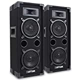 Pair of MAX26 Party Speakers with Twin 6 Inch Woofer Bedroom DJ Disco