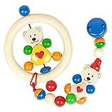 出産祝い ベビーギフト granpapa(グランパパ) 木のラトル おもちゃホルダー ギフトセット くまセット2