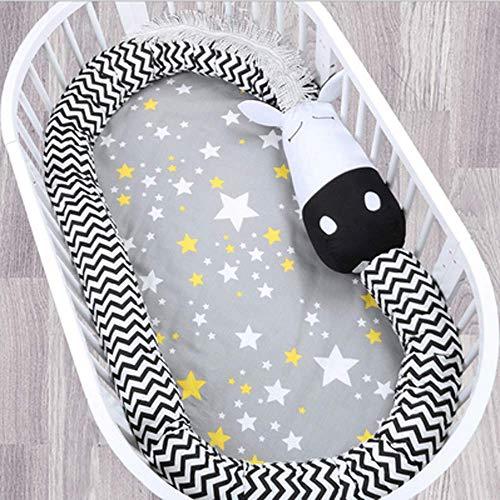 Dessins mignons Coussin de protection respirant pour lit de bébé, collection Cotton