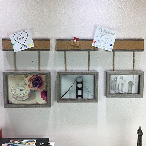 NYDZDM 3pcs photo cadre mur combinaison cadre photo définit, 6/7/8 pouces thé boutique photo décoration murale simple moderne comme cadre photo mur (Color : A)