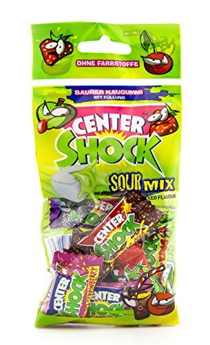 Center Shock Sour Mix, 8 Packungen mit je 11 extra-sauren Kaugummis, Mit Füllung + ohne Farbstoffe