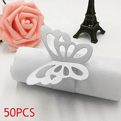 zreal 50Schmetterling 3D Serviettenring aus Papier Tischdekoration für Party Hochzeit Weihnachten Geburtstag