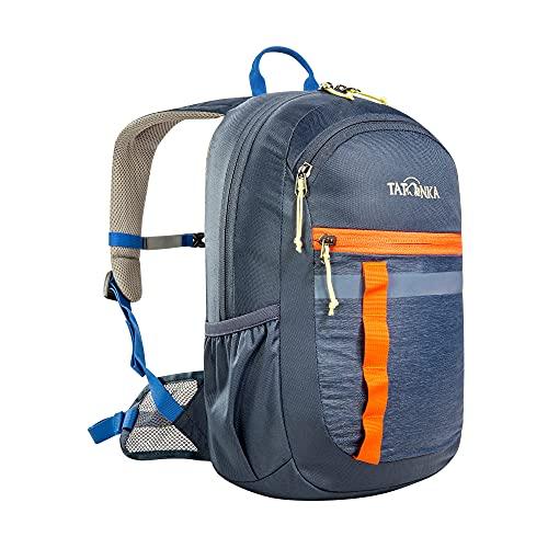 Tatonka Kinderrucksack City Pack JR 12 - Rucksack für Jungen und Mädchen ab 6 Jahren - Mit Reflexstreifen und inkl. Sitzkissen - 12 Liter - dunkelblau