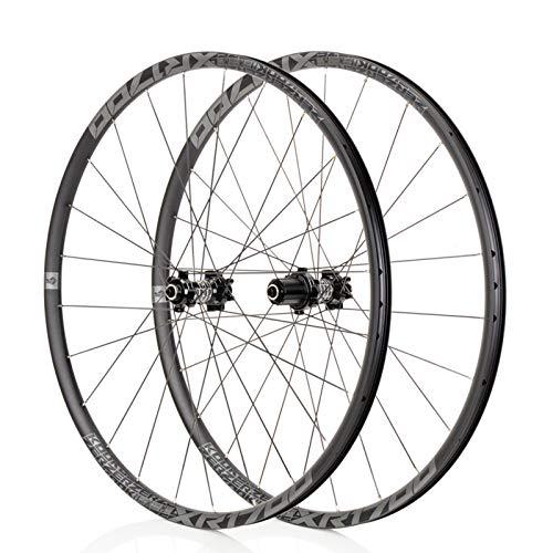 Mountain Bike 26/27,5 Pouces VTT Roues, Classique VTT, Route Racing Jantes en Alliage, NBK F2 / R4, système de 6Pawls, Convient for Les vélos de Route, Course VTT (Noir/Gris) (Size : 27.5\