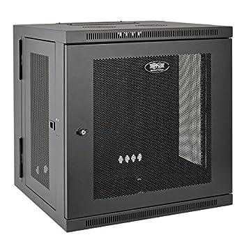 Tripp Lite - SRW12US 12U Wall Mount Rack Enclosure Server Cabinet Hinged 20.5  Deep Switch-Depth  SRW12US  black