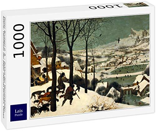 Puzzle Pieter Bruegel el Anciano   Ciclo de Fotos Mensuales, Escena: Regreso de los Cazadores (Mes de Enero), Detalle 1000 Piezas