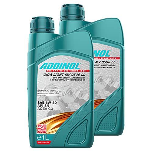 Addinol 2X Motoröl Motorenöl Motor Motoren Motor Oil Engine Oil Benzin Diesel 5W-30 Giga Light Mv 0530 Ll Longlife 1L