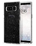 Spigen Samsung Galaxy Note 8 Hülle [Liquid Crystal] Glitzer Design [Crystal Quartz] Glänzende S Silikon Handyhülle Passgenau Schutzhülle Case Cover - Crystal Quartz (587CS22059)