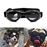 Namsan Dog Sunglasses UV Protection Pet Goggles Windproof Waterproof Sun Glasses for Small Medium Doggie Puppy Dogs-Black