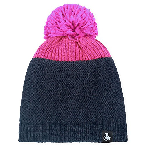 LETHMIK Womens Unique Pom BeanieWinter Cute Ski Warm Knit Skull Cap Hat Rose Red