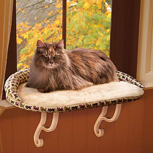 Cat  Perch with Removable Bolster Tan