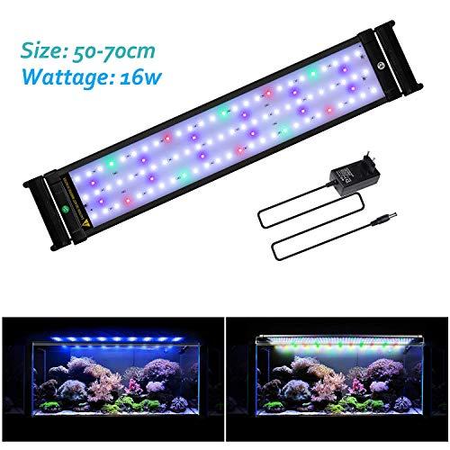 JOYHILL Illuminazione per Acquario, Plafoniera LED Acquario Dolce, Lampada LED per Acquario Luce Acquario 50-70cm